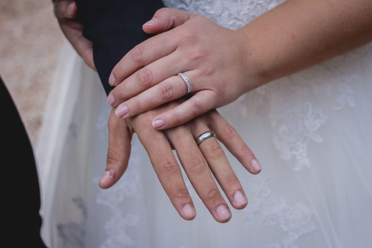 Mariés alliance de mariage
